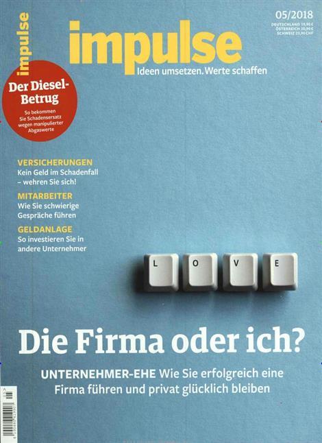 """Impulse macht """"Ich & Du und die Firma"""" zum Titelthema"""